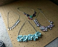 silver and blue beaded necklace Klamath Falls, 97601