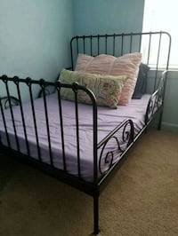 black metal bed frame and white mattress Arlington, 22201
