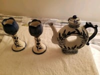 Set of Teapot and matching candle holders Winchester, 22601