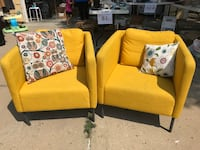 Yellow vintage chairs set of two Brighton, 80601