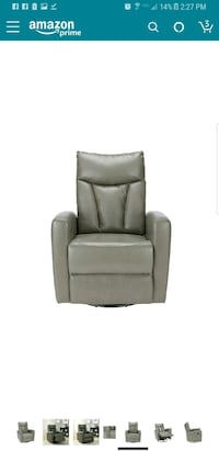 NEW grey leather swivel glider recliner  Bakersfield, 93311