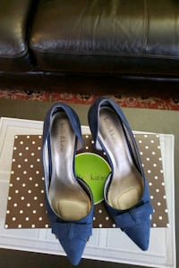 Womans Shoes, Navy Blue Genuine Suede, Queens, 11370