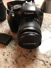 EOS cannon digital camera T3 Rebel, two lenses, 18-55mm and 75-300mm. Battery, charger, and carrying case.  Montverde, 34756