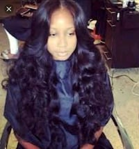 Sew in Middle part leaveout Washington