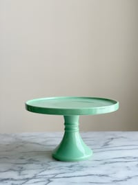 Mint green cake stand 8.5in