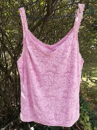 Faded Glory Pink Scalloped Tank Top