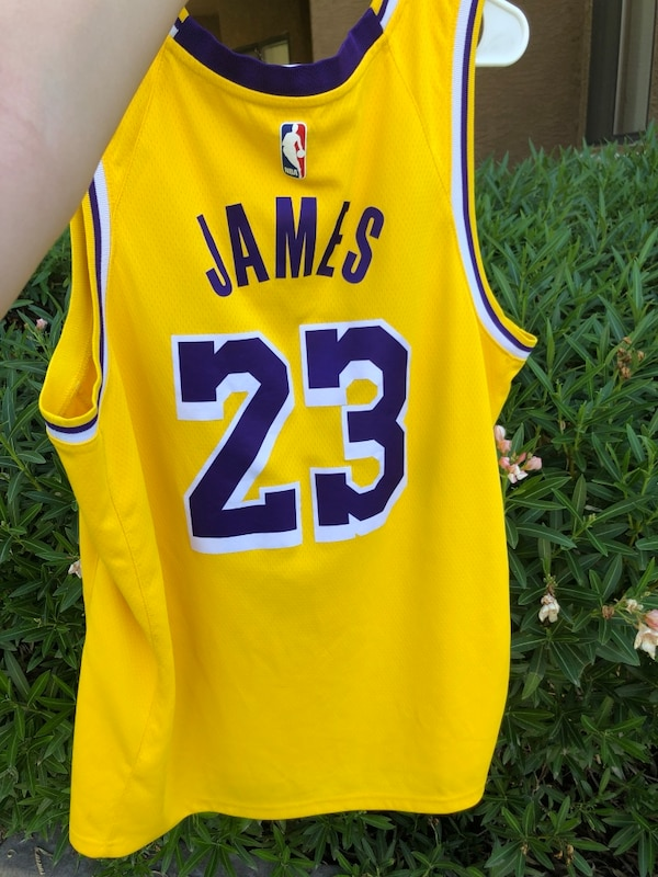 lowest price 6d5a1 27c43 $50 XL NIKE DRI-FIT LAKERS JERSEY #23