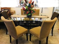 Beautiful Glass Top Dining set with chairs FIRM PRICE Honolulu, 96826