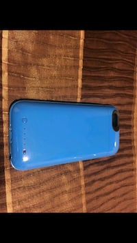 blue iPhone power case
