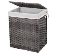 """18*13*24""""Handwoven Laundry Basket, 90L Synthetic Rattan Wicker Clothes Monrovia, 91016"""