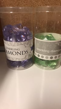 Sparkling lilac and green fake gems
