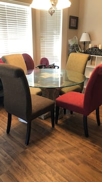 Round glass table with 6 chairs  College Station, 77845