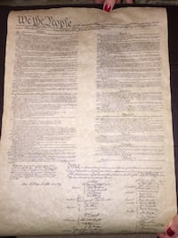 Replicas of the Bill of Rights and the Preamble to the United States Constitution  Downers Grove, 60516