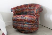 Rocking swivel accent chair