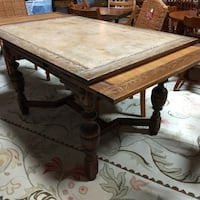 Vintage Extension Kitchen Dining Table / 2 Leaves (leafs) / Rectangle 60081