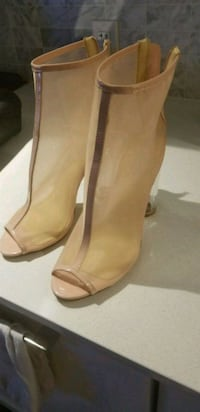 Patent clear heel boots  Vancouver, V6R 1P8
