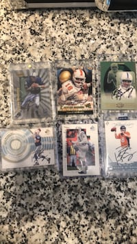 High end Peyton Manning rookies, autographed rookies and other high end Peyton Manning cards too. I have a few more big Manning rookies not in the picture I have to find them. I have 3-5 unopened Peyton Manning rookie boxes as well if interested. Make me Bel Air, 21014