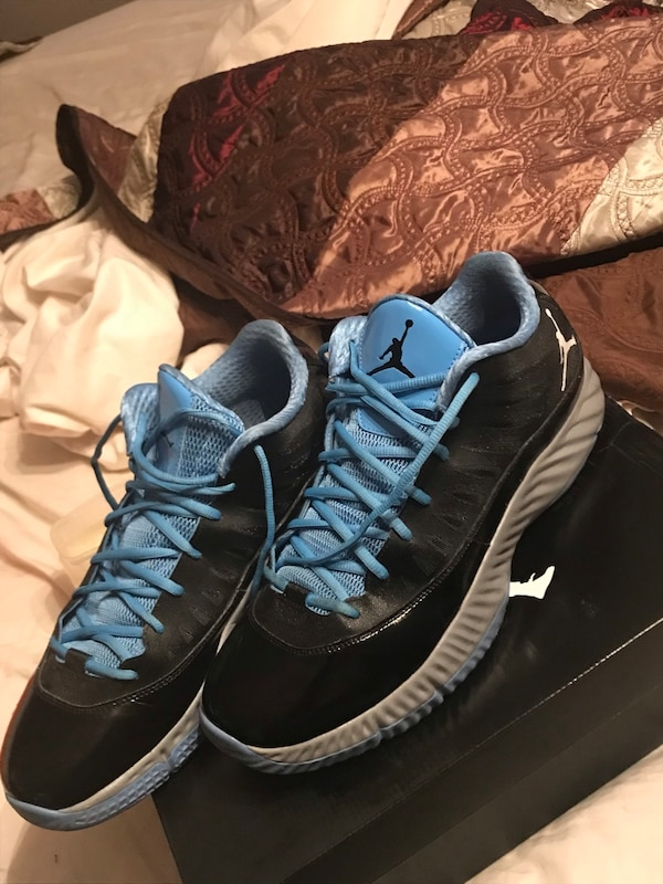 9d65c0e52972 Used JORDAN SUPER.FLY LOW  BLACK – METALLIC SILVER – CAROLINA BLUE (size  13) for sale in Austin - letgo