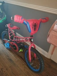 toddler's red and blue bicycle with training wheels Fort Mill