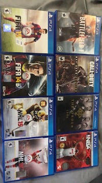 8 ps4 games for sale!!