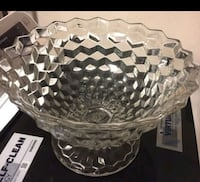 Heavy Crystal Cut Glass Bowl Lancaster, 93534