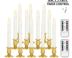 12-Pack Window Candles with Timer Flameless, Remote NEW IN BOX ½ PRICE