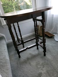 brown wood table 2 hinged legs Virginia Beach, 23454