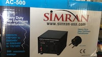 Simran voltage converter.  Brand new, never used. i don't need it anymore. Edmonton, T5A 0B3