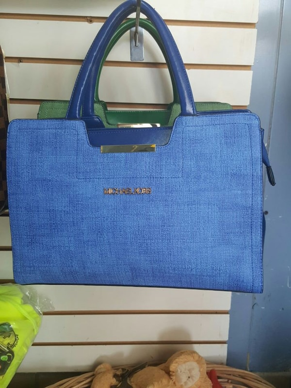 cc58a5522b41 Used blue michael kors tote bag for sale in East Cleveland - letgo