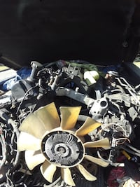 grey and brown vehicle engine