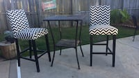 Chevron bar stools and table