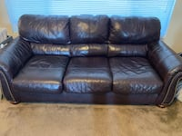 Espresso leather sofa with loveseat Bakersfield, 93312