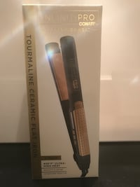 Ceramic hair straightener iron