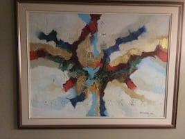Marosan abstract oil painting.