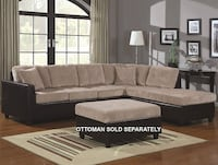 L-Shape Casual Contemporary Sectional with Reversible Chaise 503015 - $375 (MISSOURI CITY) Missouri City