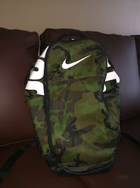 green and black camouflage backpack Brampton