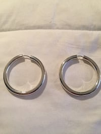 "Sterling Silver Polished 1.75"" Hoop Earrings w/ Hidden Closure Alexandria, 22306"