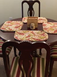 Freshly polished Classy Cherry Wood Kitchen Table W/Chairs Murfreesboro
