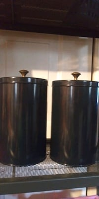 Navy blue storage canisters for your kitchen or any storage ideas