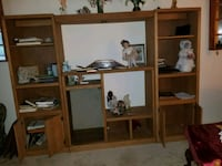 brown wooden frame glass display cabinet Stafford, 22554