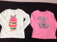 2 long  sleeve shirts ,light green & pink colour both in grate conditions size 5/6 both $10 504 km