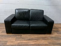 Black Natuzzi all leather loveseat. Free Delivery Toronto, M3H 5T5