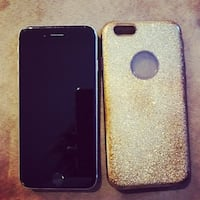 UNLOCKED Black/silver iPhone 6S with gold case Calgary, T3K 0E2