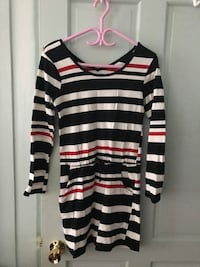 Striped Dress size 8/Medium Montreal, H2Z