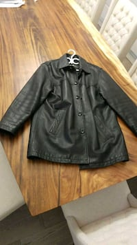 Mens black leather button up jacket Richmond, V7E 5A8