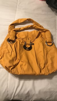 yellow shoulder bag