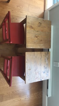 Two small kids tables with two small kids chairs , take all for $50 Surrey, V4A 7N8