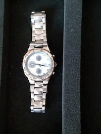 round silver chronograph watch with link strap Albuquerque, 87120