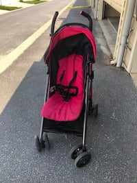 Red and black stroller!