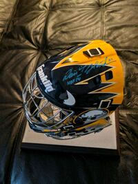 signed dominator full size helmet